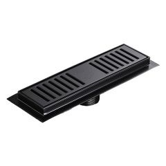 Gio Shower Channel S/S Black 250mm